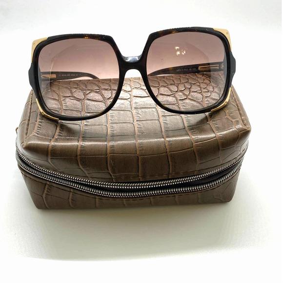 Michael Kors Sunglasses MKS523 Black & Gold Frames